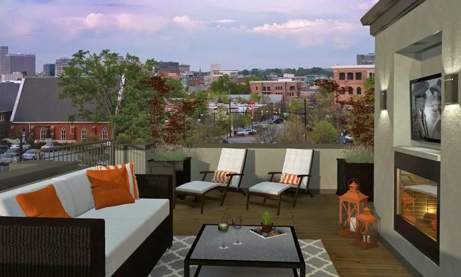 rendering of m west balcony
