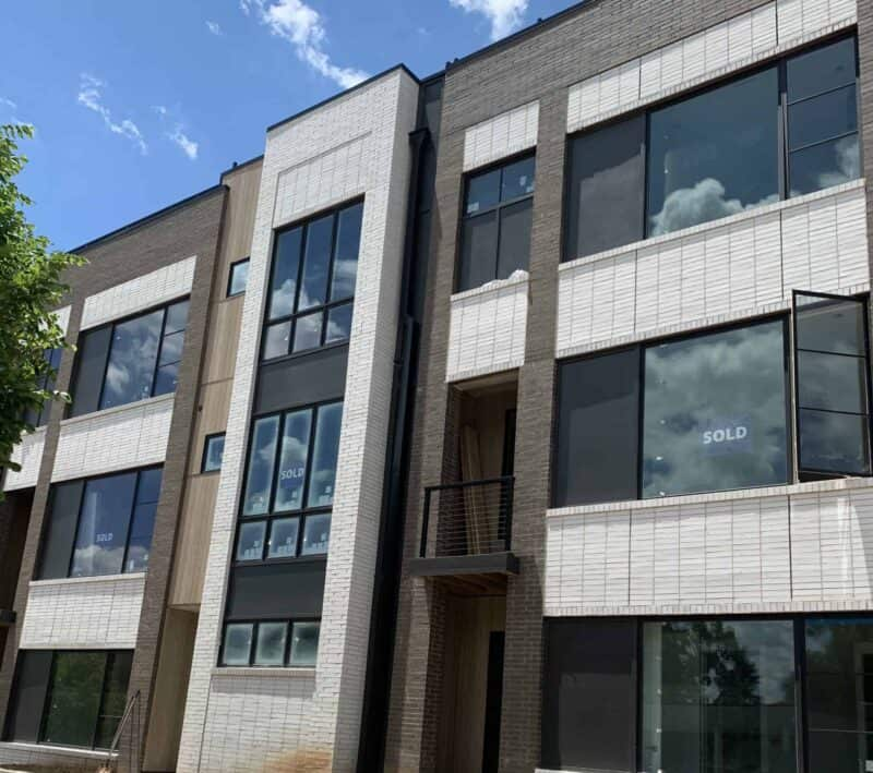 exterior of noma townhomes